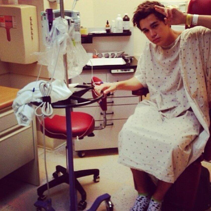 Austin Mahone hospitalized