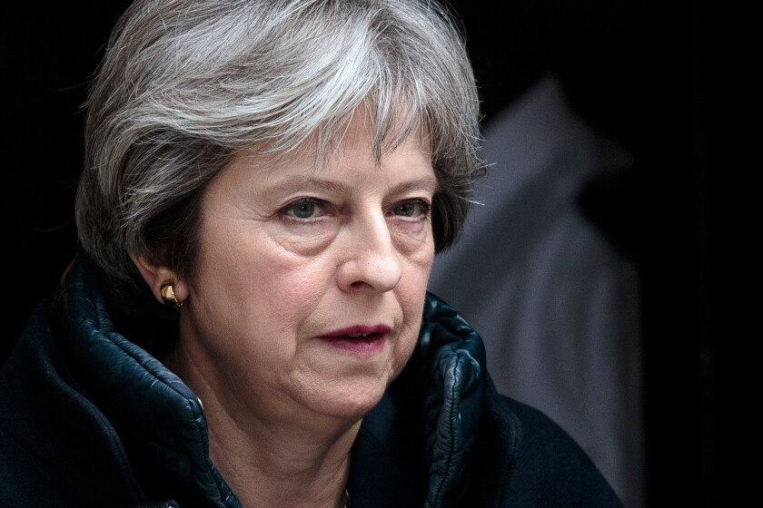"""""""We will fundamentally degrade Russian intelligence capability in the U.K. for years to come,"""" British Prime Minister Theresa May said on March 14, 2018."""