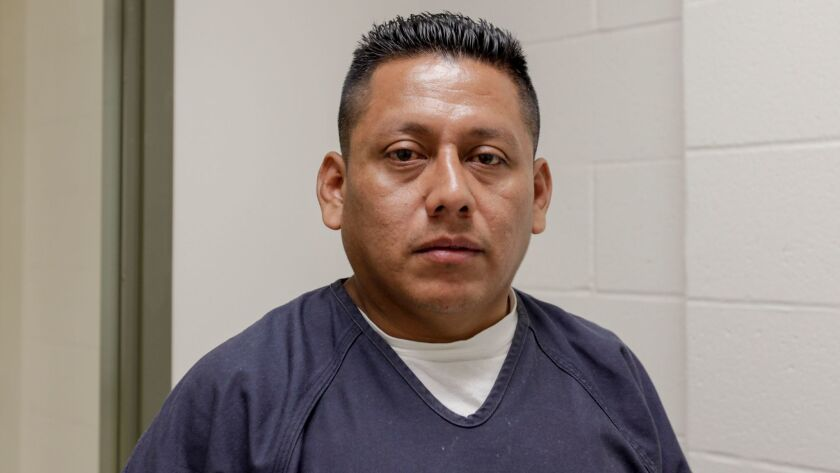 Adelanto detainee Omar Rivera Martinez says he was beaten by guards in June.