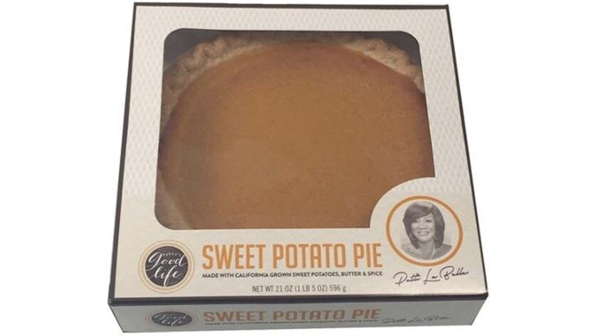 A Patti LaBelle pie from Wal-Mart. The pies sold out after a singer posted a video of himself reviewing the pie via social media.