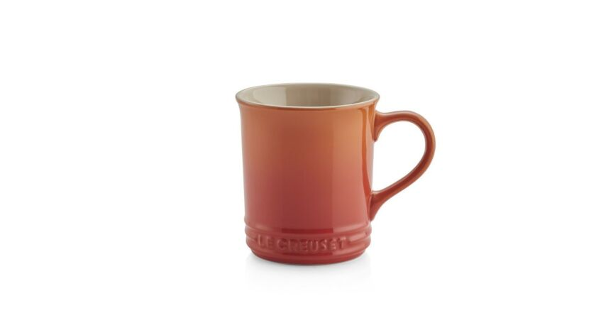Sip don?t chug this trend, sometimes a shot of color is all you need, Le Creuset orange mug, $15 at