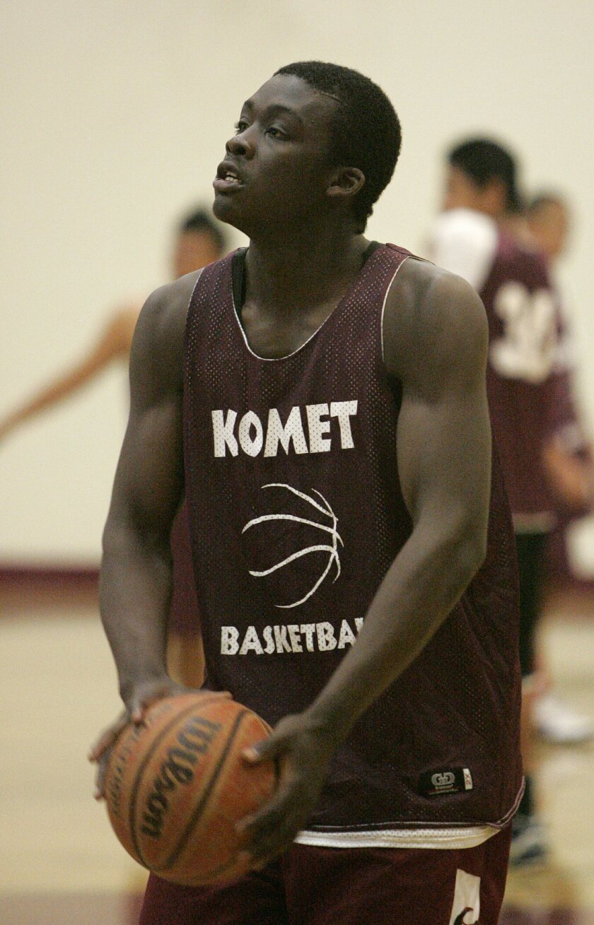 Senior forward Mike Oloya has the Kearny Komets in contention in the Central League.