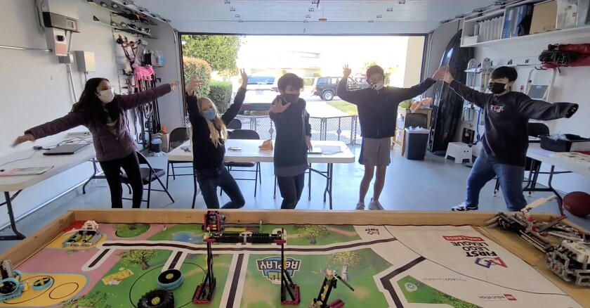 The Muirlands Master Builders robotics team created a website promoting physical activity as part of a competition.