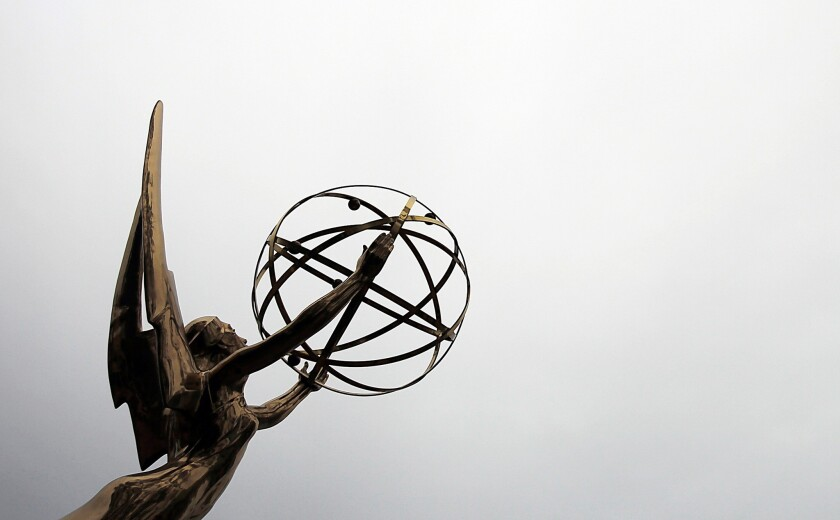 The 71st Primetime Emmy Awards will be held Sunday, Sept. 22 in Los Angeles. Pictured: An Emmy statue outside the Academy of Television Arts and Sciences in North Hollywood.