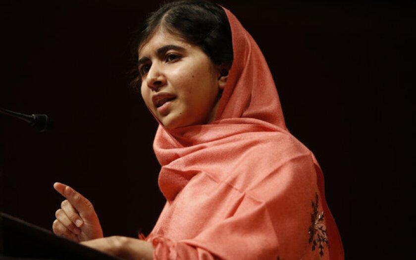 Malala Yousafzai speaks at Harvard University on Sept. 27.