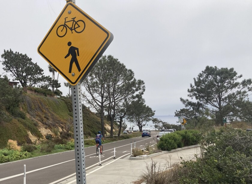 The stretch of Camino Del Mar where Villa's accident occurred is popular among cyclists.