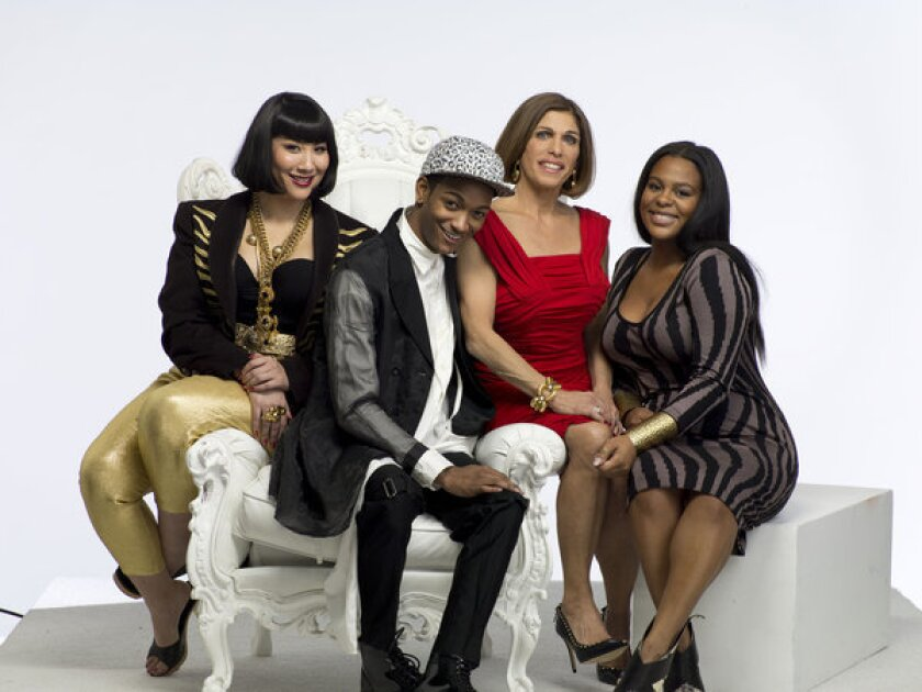 "The cast of Smithsonian Channel's new docu-reality series ""L.A. Frock Stars"" includes, from left, Shelly Lyn Erdman, Kyle Blackmon, boutique owner Doris Raymond and Jascmeen Bush. Not pictured is Sarah Bergman."