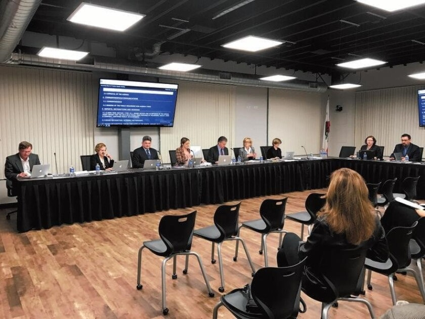 The Del Mar Union School District held its first meeting in its new board room at the district office on Jan. 25.