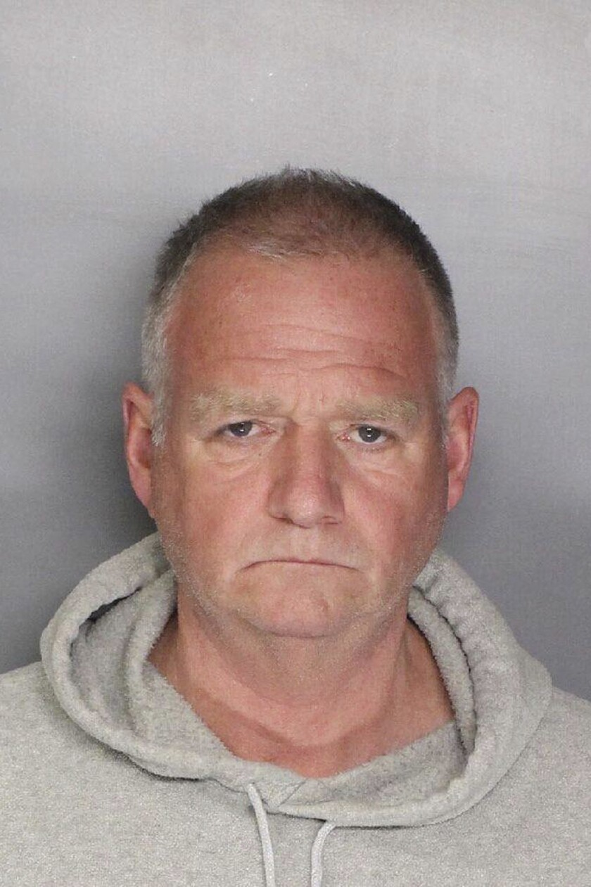 This Friday, Nov. 8, 2019 booking photo released by the Folsom Police Department shows Gregory Harms. Authorities arrested Harms, who was working as a nurse at a rehab facility, on suspicion of sexually assaulting a drugged patient. (Folsom Police Department via AP)