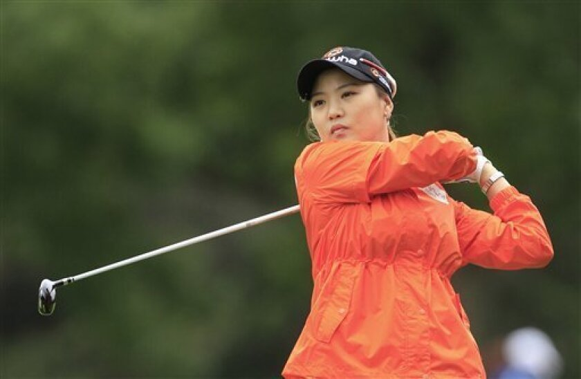 So Yeon Ryu, of South Korea, hits from the 12th fairway during the second round of the Jamie Farr Toledo Classic golf tournament at Highland Meadows Golf Club in Sylvania, Ohio, Friday, Aug. 10, 2012. (AP Photo/Carlos Osorio)