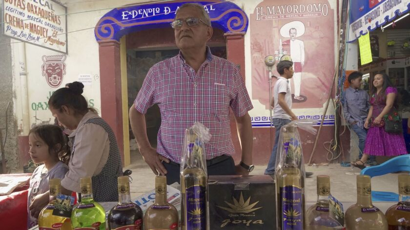 Luis Leon Monterrubio runs a company in Oaxaca, producing mescal, the signature liquor distilled from the maguey plant. Like other exporters to the U.S., he is worried about Donald Trump's threats to increase tariffs.