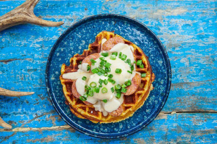 North Park Breakfast Company's Mashed Potato Waffle
