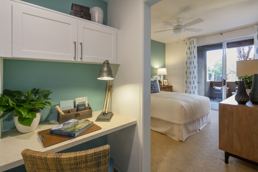Del Rio's six floor plans include one-, two- and three-bedroom homes that range from 726 to 1,346 square feet. Spacious bedrooms and an open-air feel are standard in all.