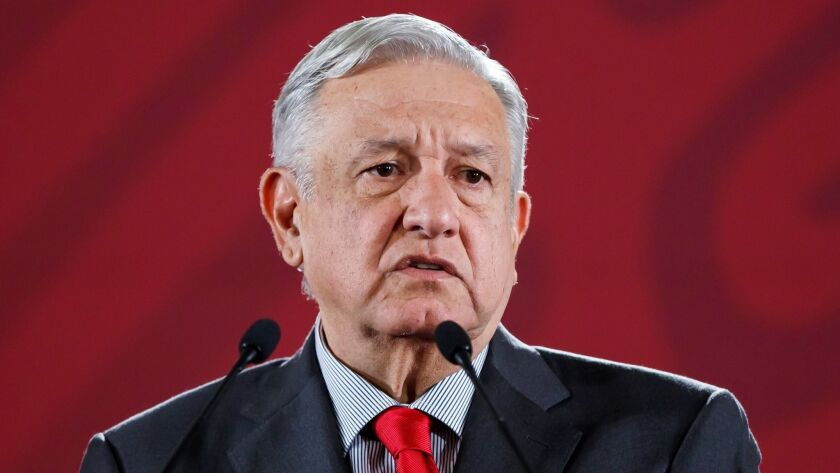 Lopez Obrador announces an act of national unity and friendship with the US, Ciudad De Mexico - 06 Jun 2019