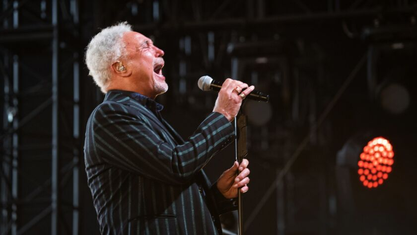 INDIO, CALIF. -- SUNDAY, APRIL 28, 2019: Tom Jones performs on the Palomino Stage on the final day