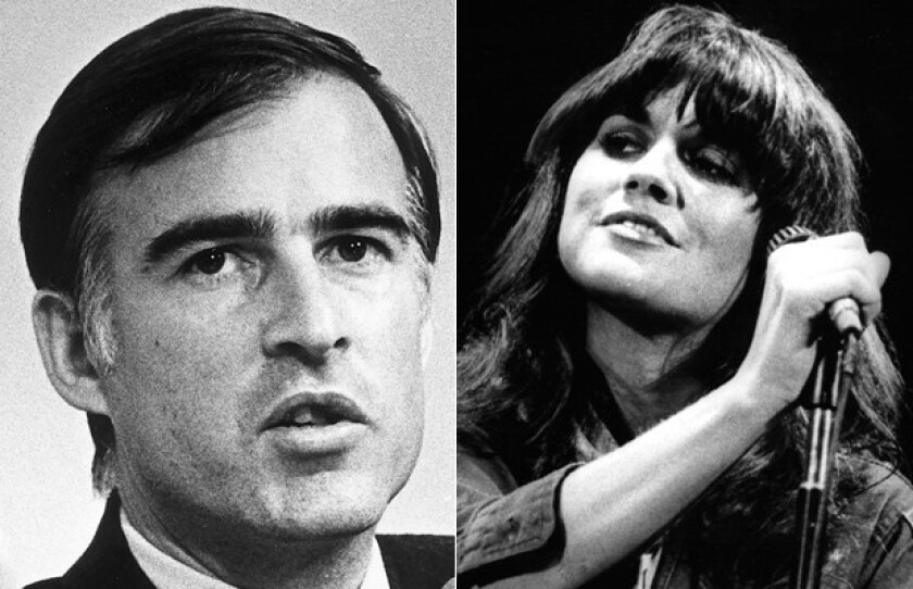 """In her new memoir, singer Linda Ronstadt recounts a time during the winter of 1979 when she was """"keeping company"""" with the then-41-year-old governor Jerry Brown."""