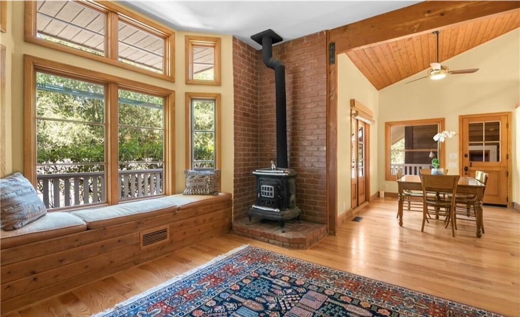 The half-acre compound holds a two-story home, writer's studio and horse facilities including a barn.