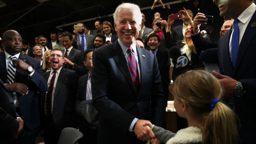 LOS ANGELES, CA -- MONDAY, NOVEMBER 16, 2015 -- After answering a few of her questions, Vice Presi