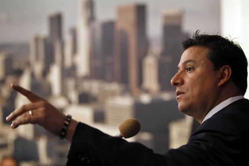 Los Angeles City Councilman Jose Huizar is shown.