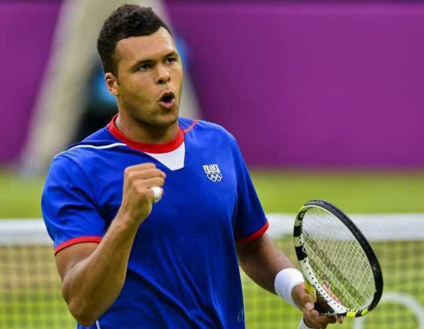London Olympics: Tsonga beats Raonic in historic tennis match
