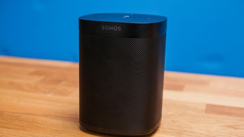 The Sonos One smart speaker has Amazon's Alexa voice assistant built in.