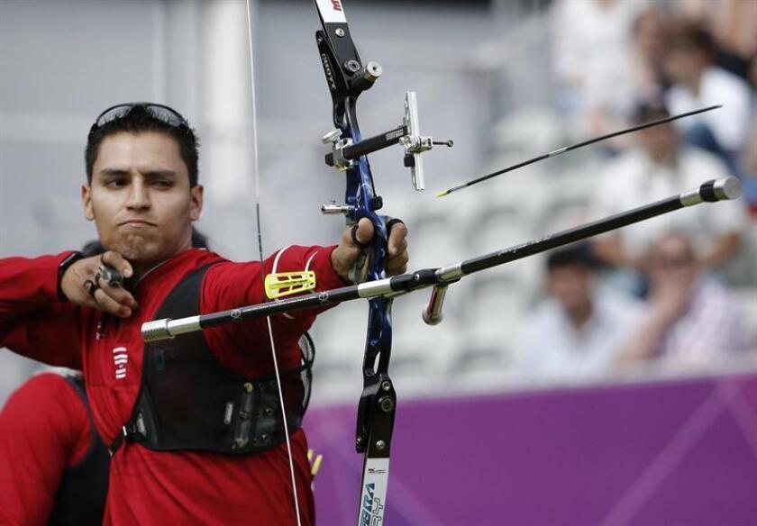 La selección mexicana de tiro con arco regresó hoy a los entrenamientos en la capital del país para iniciar la preparación de la temporada que tendrá su pico en los Mundiales de la ciudad de México el próximo mes de octubre. EFE/ARCHIVO