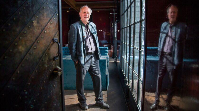 Director Werner Herzog at the Sunset Strip restaurant Estrella.