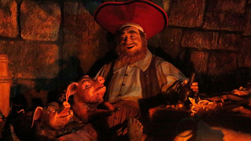 A scene from Pirates of the Caribbean at Disneyland.