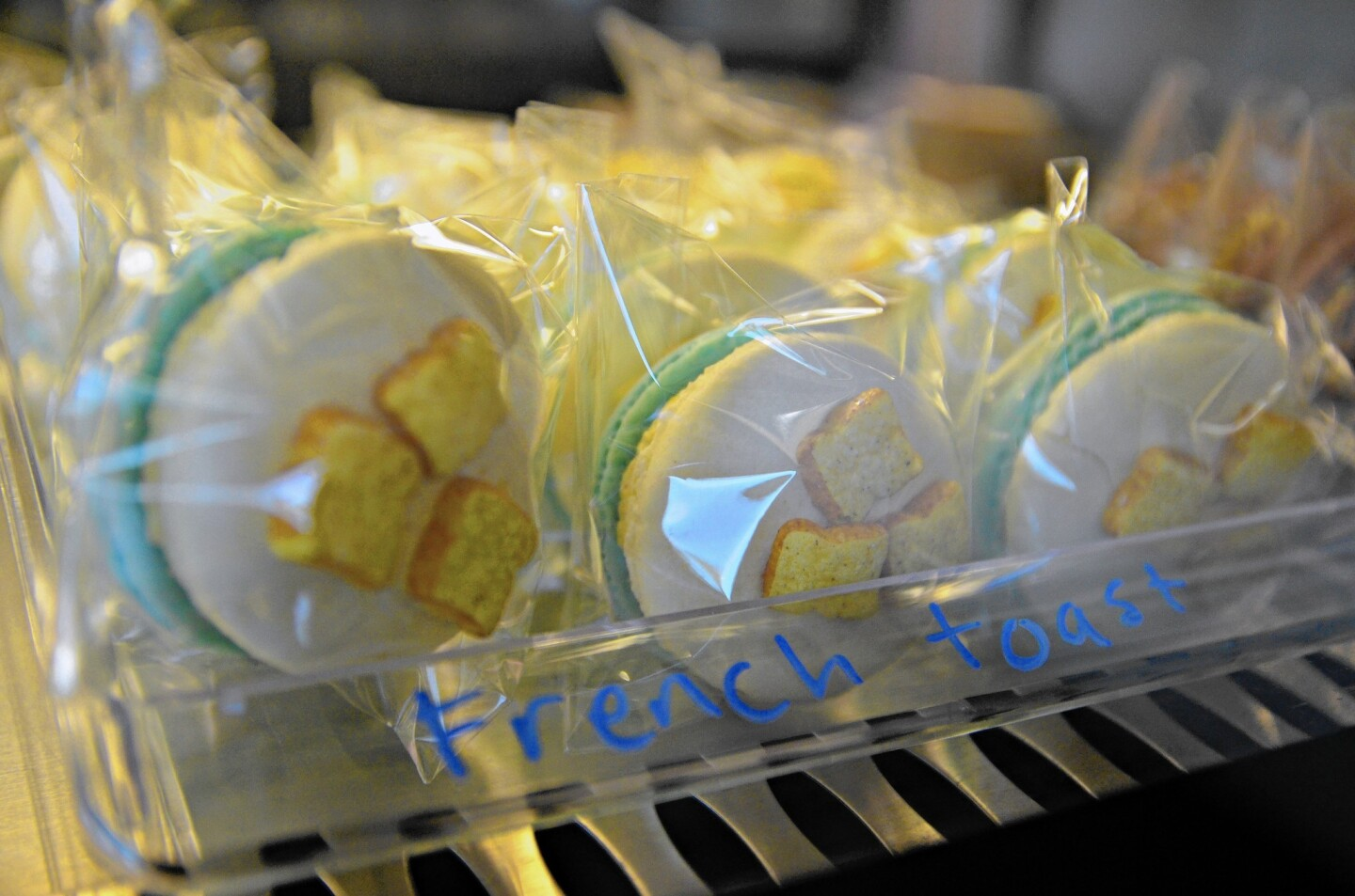 Honey & Butter, located at The Lab in Costa Mesa, sells hundreds of macaron cookies in various flavors a day.