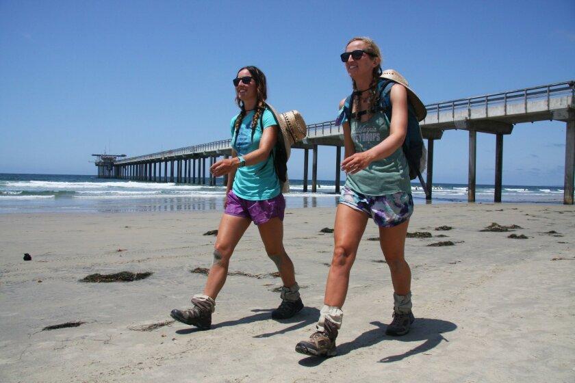 Morgan Visalli and Jocelyn Enevoldsen finished their adventure on Thursday, Aug 4 at Friendship Park (San Diego-Tijuana border).