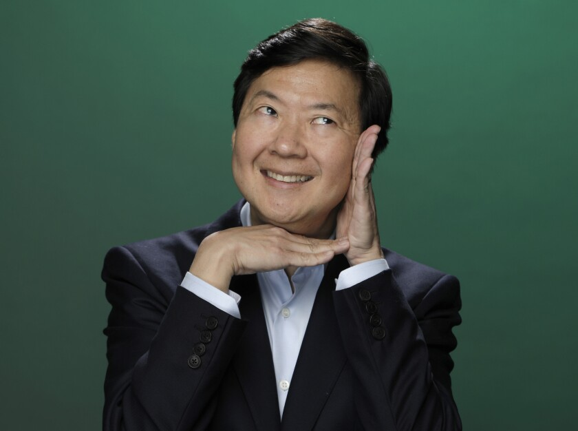 Ken Jeong is photographed at the Los Angeles Times studio for an Emmy Contender chat series.