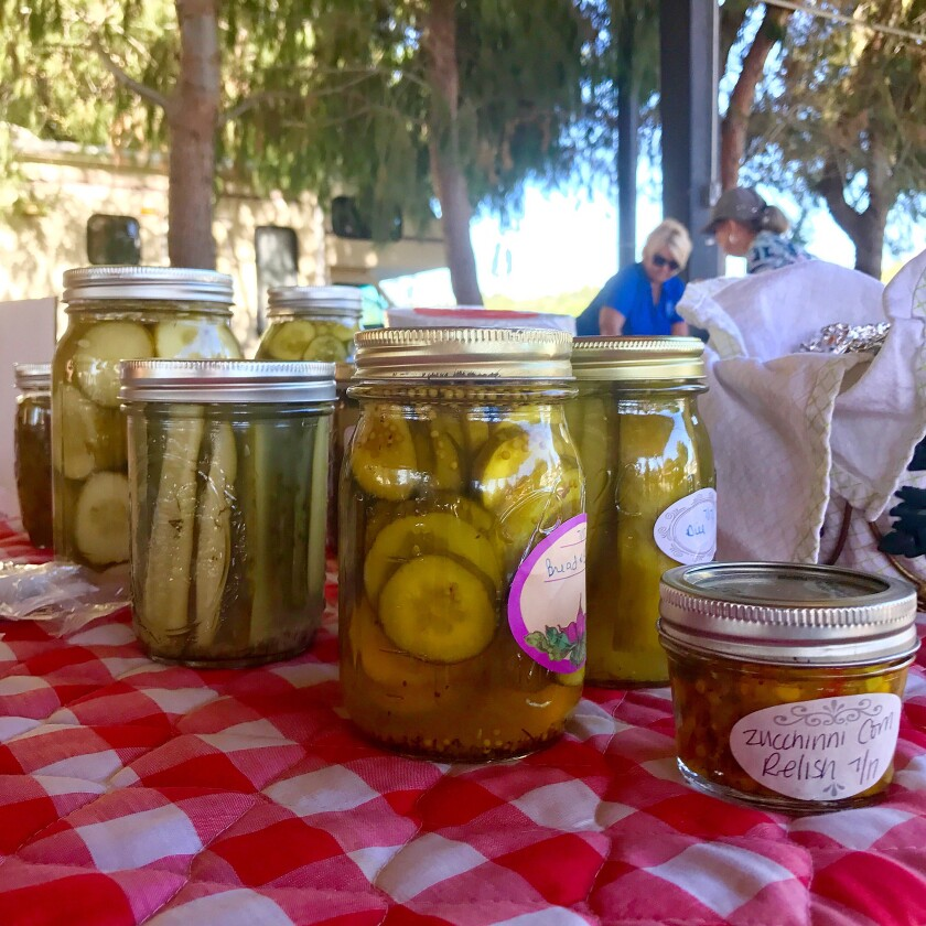 Pickles and relish are one of the categories in Saturday's Home Sweet Home competition at the Ramona Country Fair.