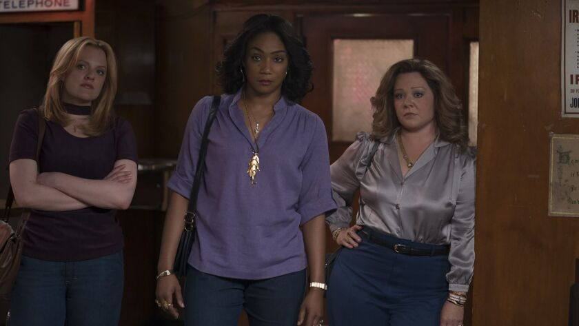 ***SUMMER SNEAKS 2019--(L-R) ELISABETH MOSS as Claire, TIFFANY HADDISH as Ruby and MELISSA McCARTHY