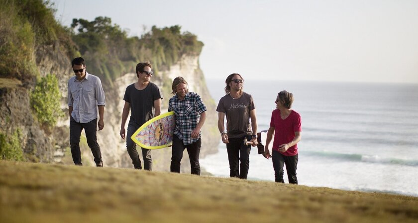 Jon Foreman, center, leads the San Diego band Switchfoot.