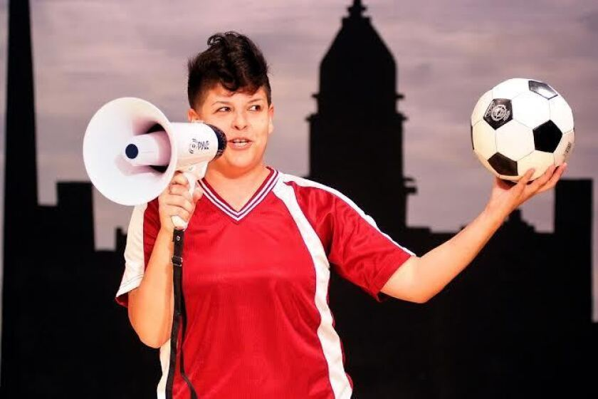 Karen Anzoategui stars at Los Angeles Theatre Center.