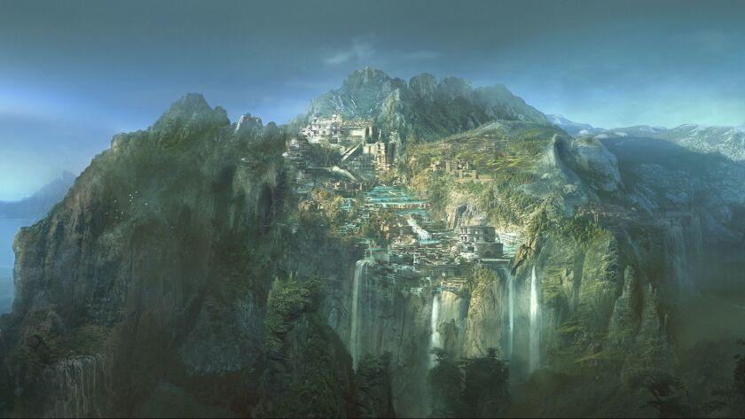 Concept art of Themyscira.