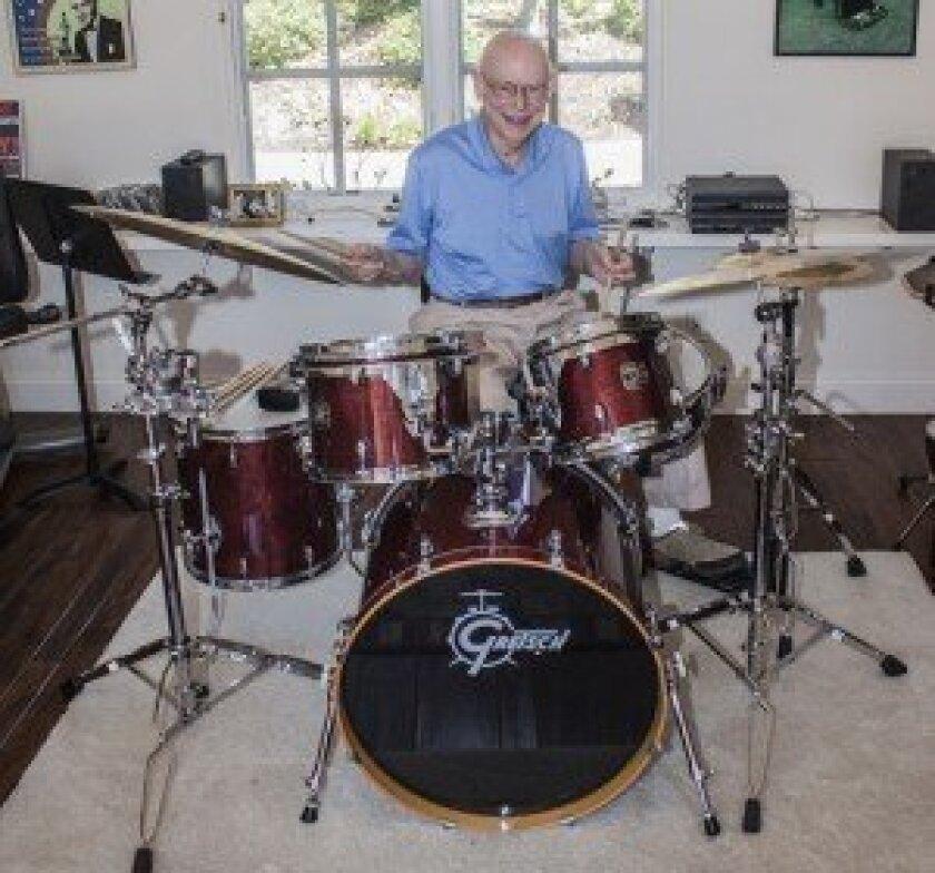 Lee Sarokin with his drums. Photo/Maurice Hewitt