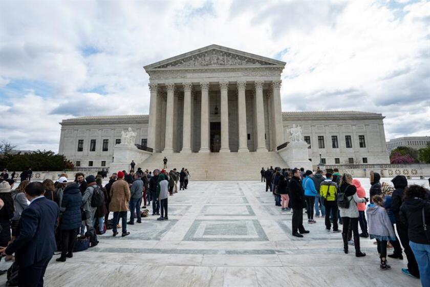 El presidente, Donald Trump, elegirá el próximo lunes, 9 de julio, a un nuevo juez del Tribunal Supremo tras la salida del magistrado centrista de la sala, Anthony Kennedy, que anunció la semana pasada su jubilación. EFE/ARCHIVO