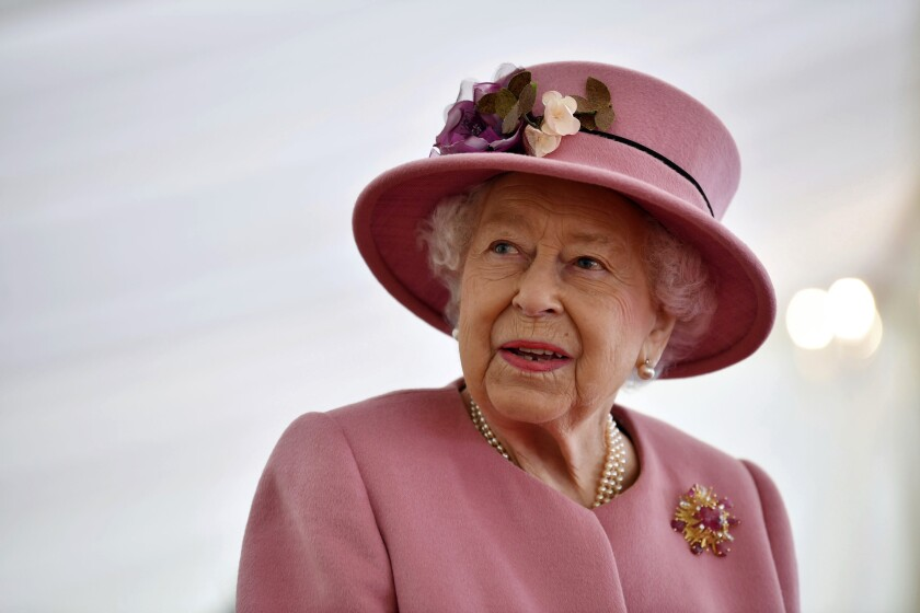Britain's Queen Elizabeth II in October 2020
