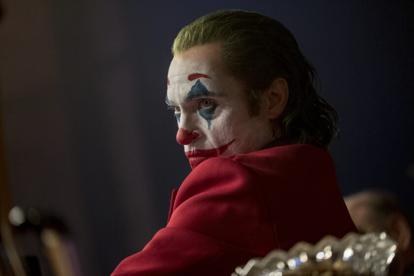 "Joaquin Phoenix as Arthur Fleck, a failed stand-up comic who becomes the iconic comic-book villain the Joker in Todd Phillips' new film ""Joker."""