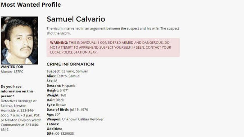 Calvario se dio a la fuga dejando atrás su camioneta para luego enfrentar cargos de asalto con un arma de fuego, rapto y transportación de marihuana.