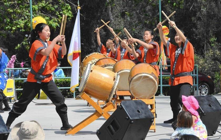 The Daion Taiko group performs during last year's Huntington Beach Cherry Blossom Festival held at Central Park.