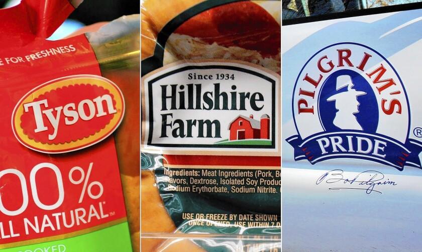 Tyson Foods and Pilgrim's Pride bid for Hillshire Brands