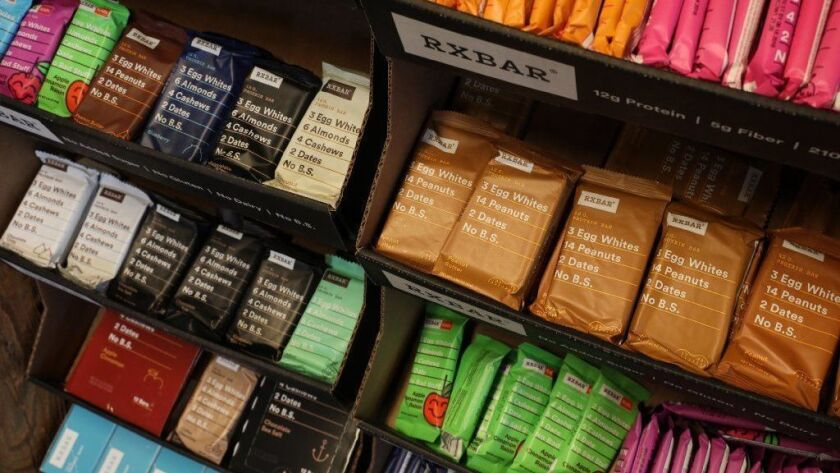 Kellogg bought the River North-based RXBar in fall 2017 for $600 million.