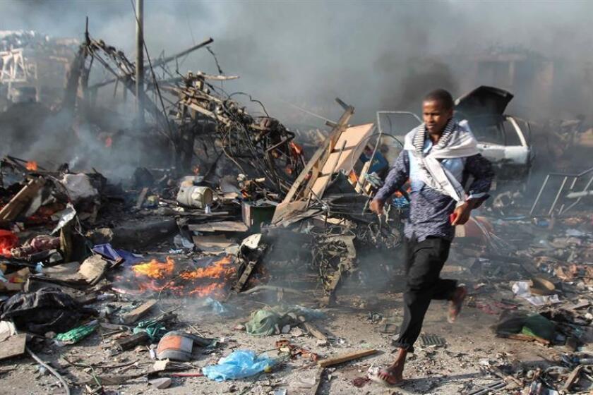 Vista de una explosión en Somalia. EFE/Archivo