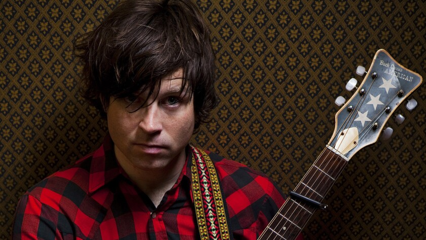 Singer-songwriter Ryan Adams in his Hollywood music studio