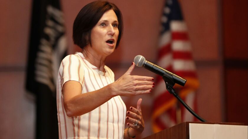 Rep. Mimi Walters (R-Laguna Beach) is facing a serious challenger in Democrat Katie Porter, with polling showing a tight race.