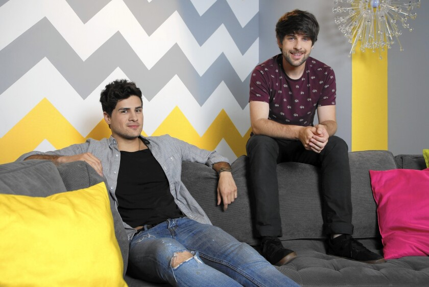 The 27-year-old Sacramento natives behind Smosh, Anthony Padilla, left, and Ian Hecox, have made some 3,000 sketches on YouTube in the last 10 years.