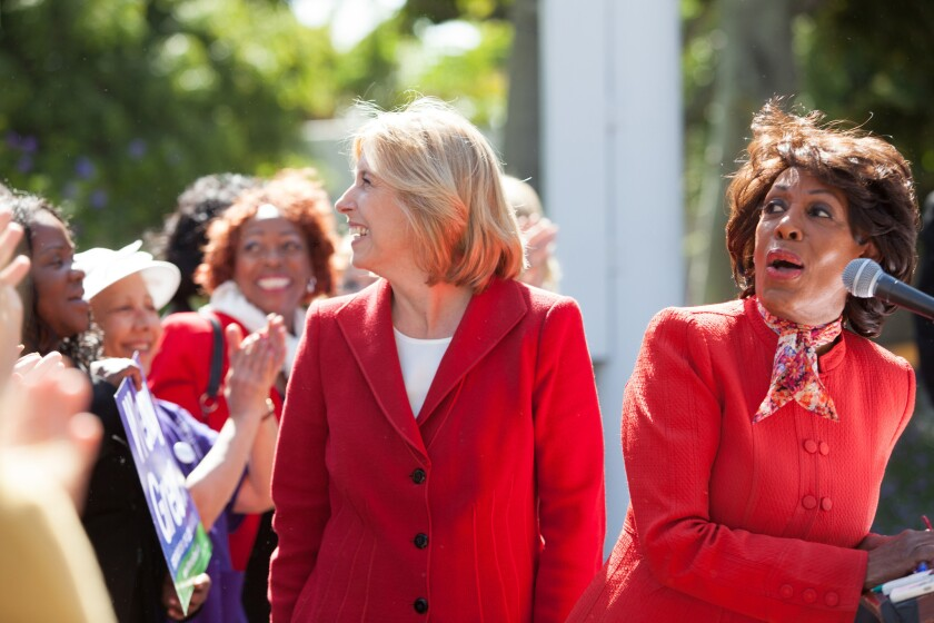 L.A. Now Live: Maxine Waters endorses Wendy Greuel in mayor's race