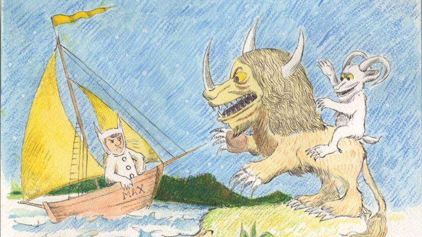 """A Maurice Sendak drawing for """"Where the Wild Things Are."""""""